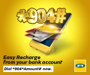 MTN easy recharge from your bank account
